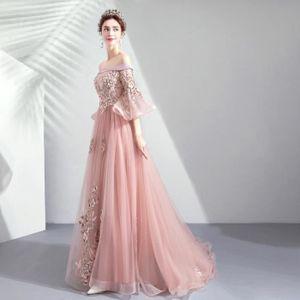 Une épaule robe de soirée dégradé banquet de tempérament automne et hiver  longue sexy sexy était mince Peut être personnalisé