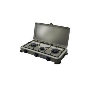 PLAQUE GAZ Plaque de cuisson gaz portable 3 feux 4100 W SILVE