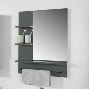 Miroir salle de bain avec etagere