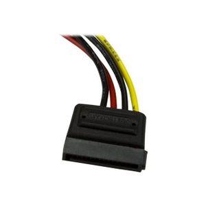 PACK CONNECTIQUE  Câble d'alimentation LP4 vers SATA de 15 cm - Câbl