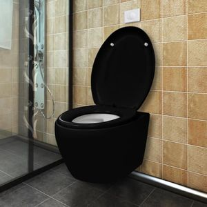 wc suspendu noir achat vente wc suspendu noir pas cher soldes cdiscount. Black Bedroom Furniture Sets. Home Design Ideas