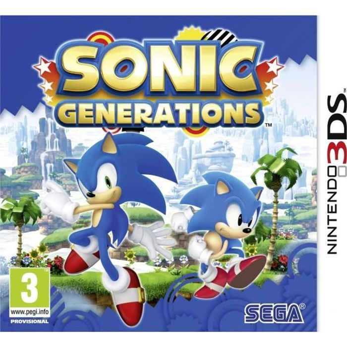 sonic generations jeu console 3ds achat vente jeu 3ds sonic generations jeu 3ds cdiscount. Black Bedroom Furniture Sets. Home Design Ideas