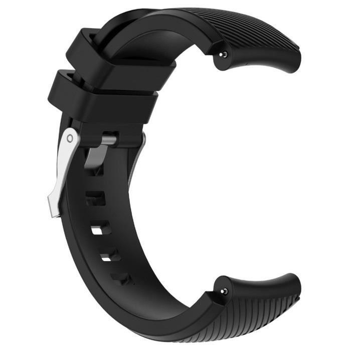 bracelet de montre vendu seul Dragonne de montre en silicone souple de remplacement pour Huami AMAZFIT GTR 47mm FQQ90816103BK_365