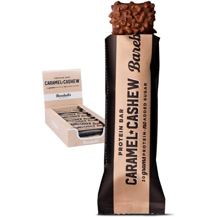Barre énergétique et protéinée Barebells Bars Caramel Cashew