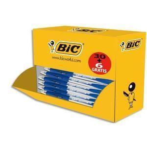 BIC Pack éco de 30+6 stylo bille ATLANTIS bleu, pointe moyenne, rechargeable, bille indéformable