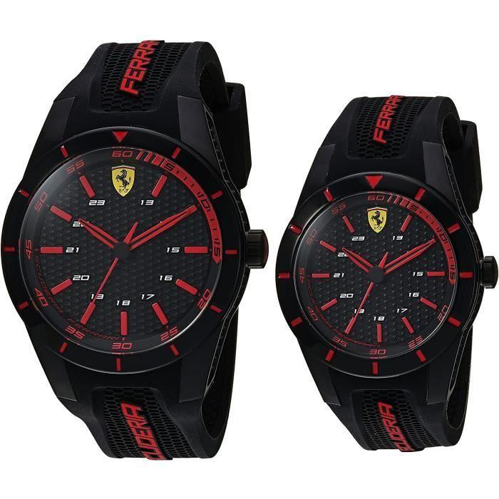 Ferrari - Montre Hommes - Quartz Analogique - Bracelet Silicone Noir - 0870017