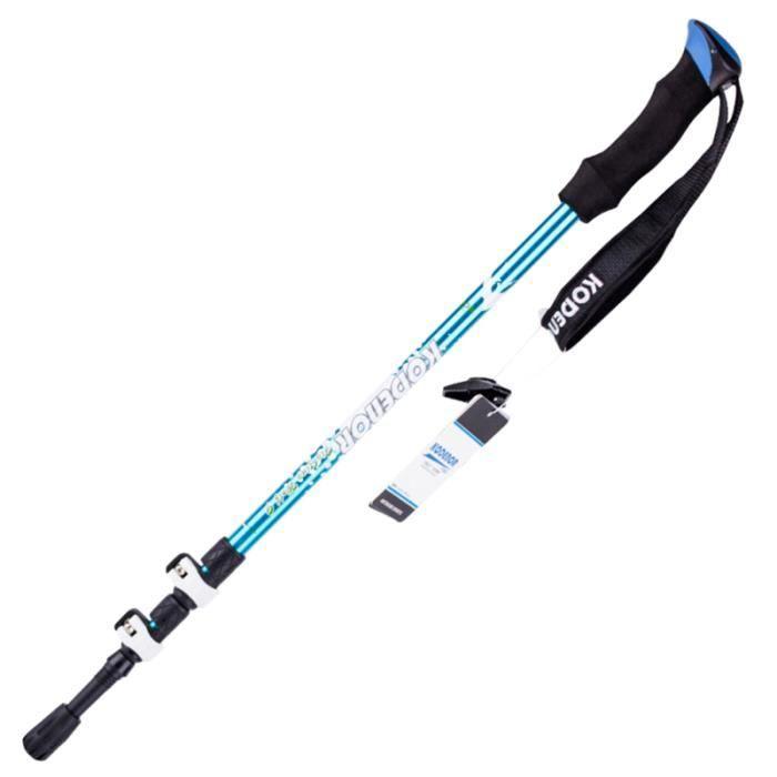 Alliage d'aluminium Alpenstock Multifunctional Trekking Pole Béquilles de randonnée pliables Béquille de ski BATON DE MARCHE