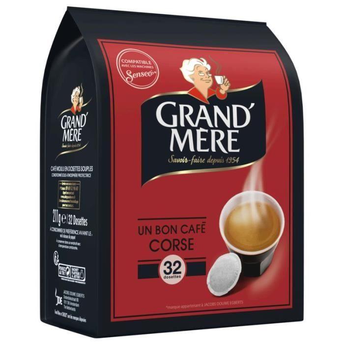 GRAND' MERE Café corsé - 32 dosettes - 211 g