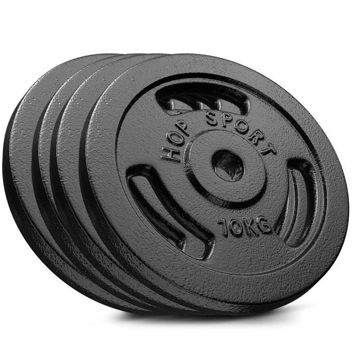 HS Hop-sport Disques en Fonte 40kg (4x10) SET DD