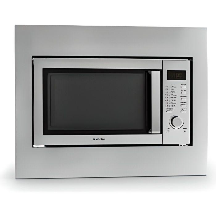 Klarstein Steelwave - Four à micro-ondes de 23L, puissance de 800W et grill 1000W + set pour encastrement