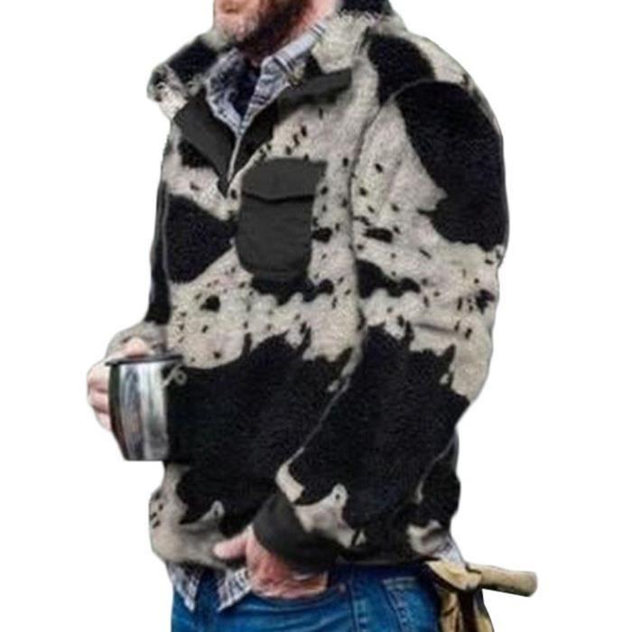Homme Manteau d'hiver Décontracté Molleton Manteau d'Extérieur Manteau Fausse Fourrure Manteau Chaud Peluche Photo7