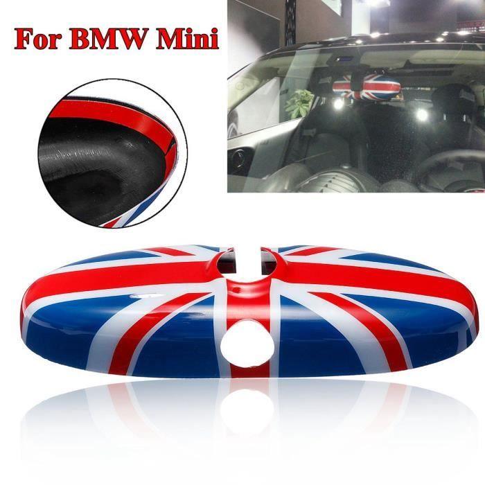 NEUFU Couverture de Rétroviseur Intérieur Pour BMW MINI Cooper R52 R55 R56 R57 R60 R61 Bleu + Rouge
