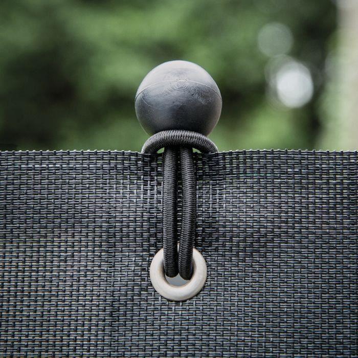 IDEAL GARDEN Brise vue 520g - Confidence - Spécial Balcon - 0.9 x 3 m - Noir
