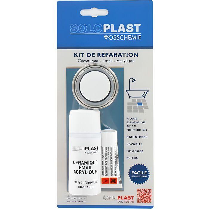Kit de réparation céramique email acrylique blanc alpin Soloplast