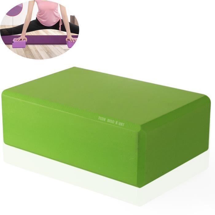 TD® EVA Yoga Block Brick Sports Exercise Fitness Gym Workout Stretching GN accessoires de yoga
