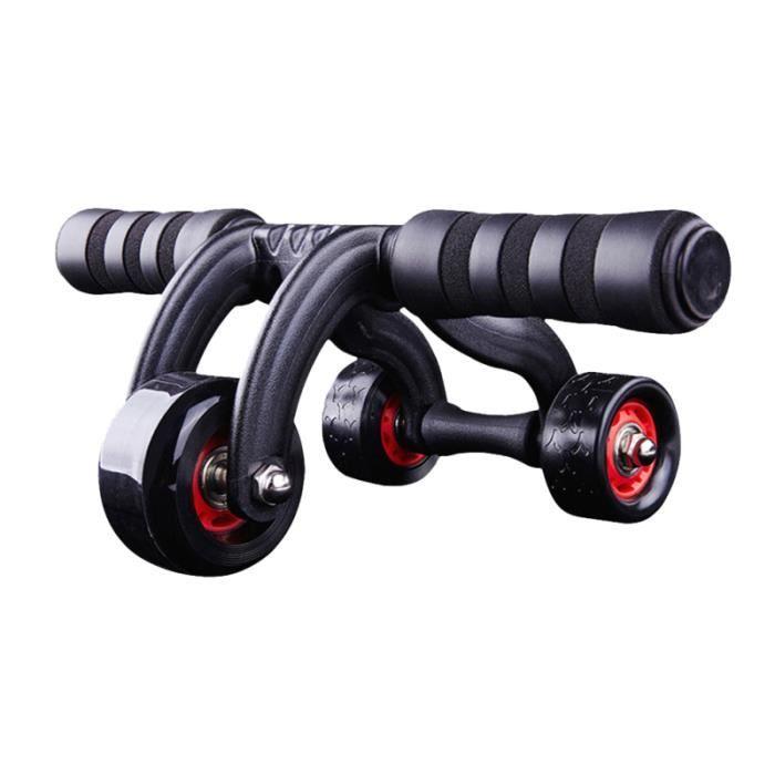 Muscle abdominal Roues d'entraînement Rouleau à trois roues extensible Résistance abdominale Outil APPAREIL ABDO - PLANCHE ABDO