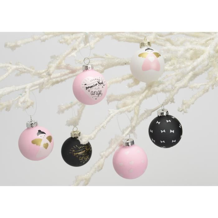 nouveau-né Souvenir Cadeau ruban rose étoiles Personnalisé Première babioles de Noël