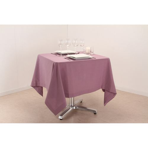 Nappe carr e l 150 cm parme achat vente nappe de for Table carree 150 x 150