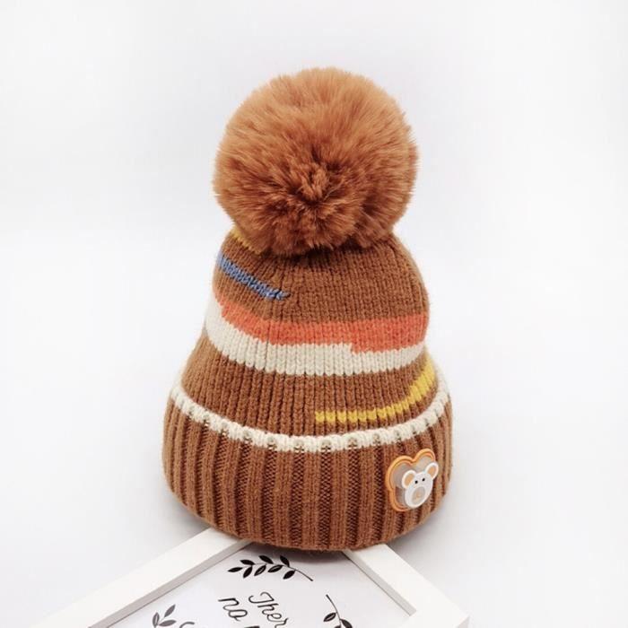 Nouvelle main crochet//Tricot Garçon//Fille Pompon Chapeau Fit 3-6 mois