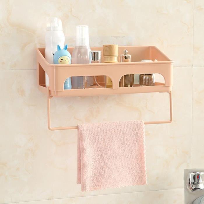 SET ACCESSOIRES SALLE DE BAIN Plastique Ventouse Salle de bain Coin cuisine  Support de rangement Organisateur douche étagère