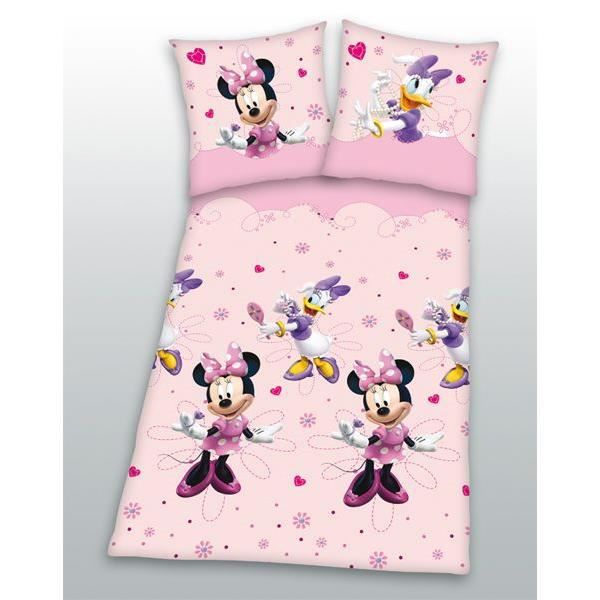 parure de lit minnie daisy 1 personne en flanelle achat vente parur. Black Bedroom Furniture Sets. Home Design Ideas