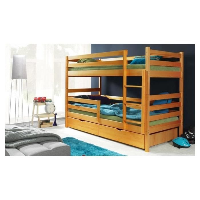 lits superpos s enfant en bois marron achat vente lits. Black Bedroom Furniture Sets. Home Design Ideas
