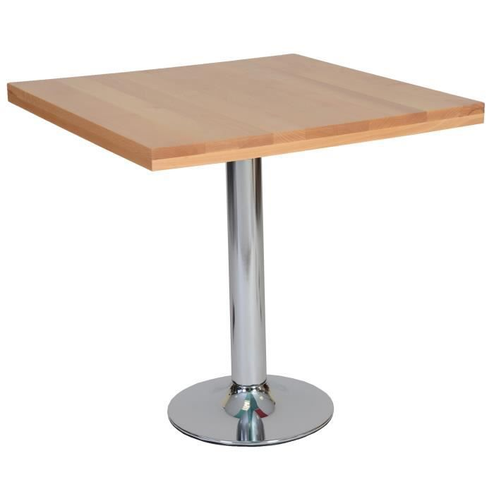 Table carr e h tre bistrot achat vente table de for Table de bistrot pliante