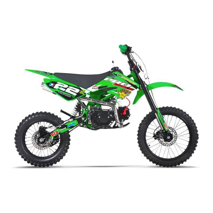 moto dirt bike 125 pit bike probike 125 s 17 14 vert 2017 achat vente moto moto dirt. Black Bedroom Furniture Sets. Home Design Ideas