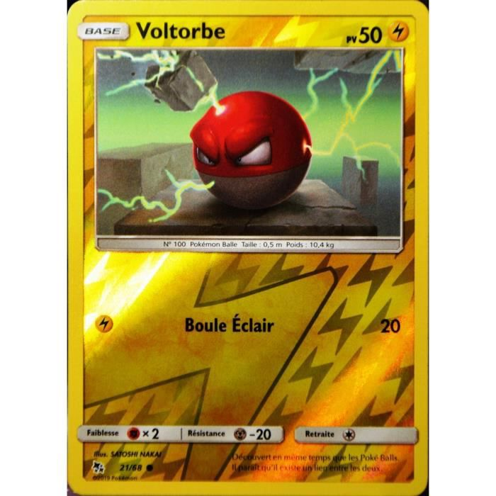 Carte Pokemon VOLTORBE 21//68 REVERSE Soleil et Lune 11.5 SL11,5 FR NEUF