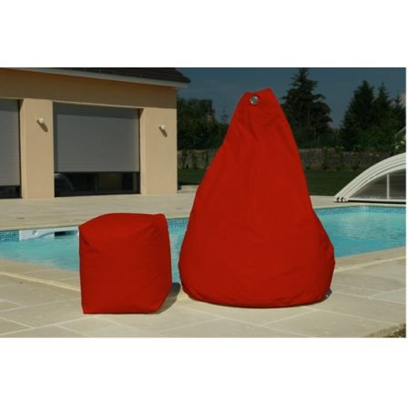 pouf poire rouge achat vente coussin d 39 ext rieur pouf. Black Bedroom Furniture Sets. Home Design Ideas