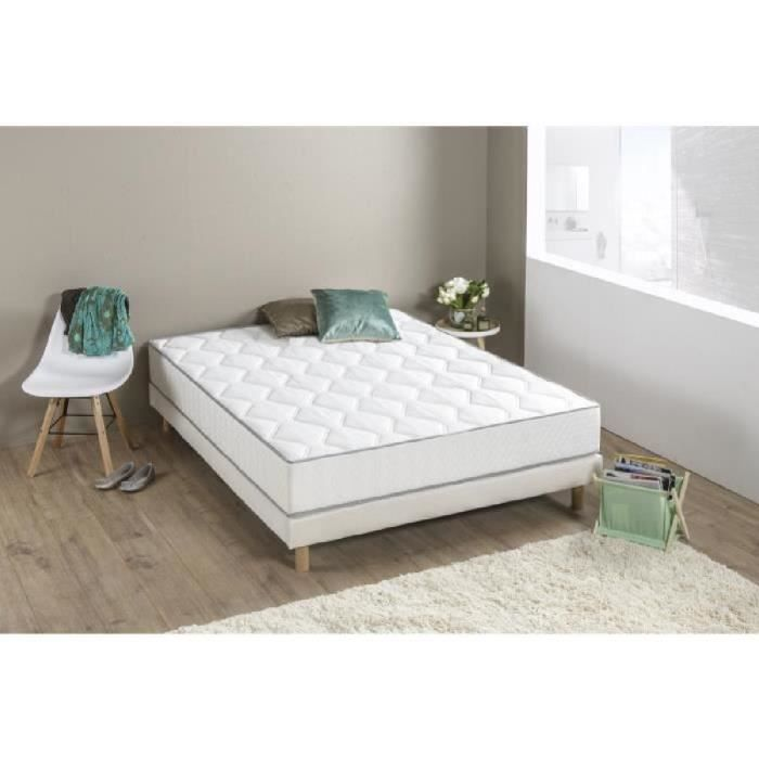 ensemble sommier tapissier matelas 160x200 achat vente pas cher. Black Bedroom Furniture Sets. Home Design Ideas