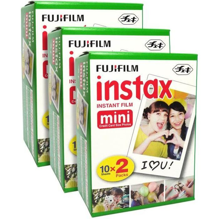 APP. PHOTO INSTANTANE Fuji Fujifilm Instax Mini Blanc 60 Film for Fuji 8