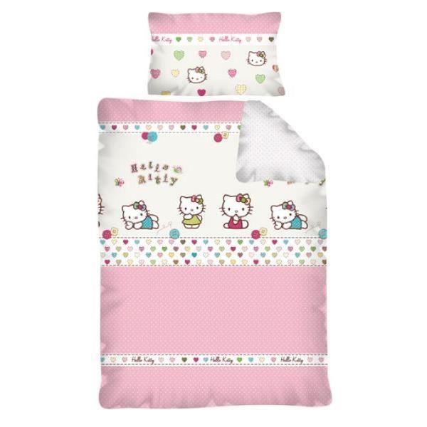 hello kitty parure housse de couette r versible achat. Black Bedroom Furniture Sets. Home Design Ideas