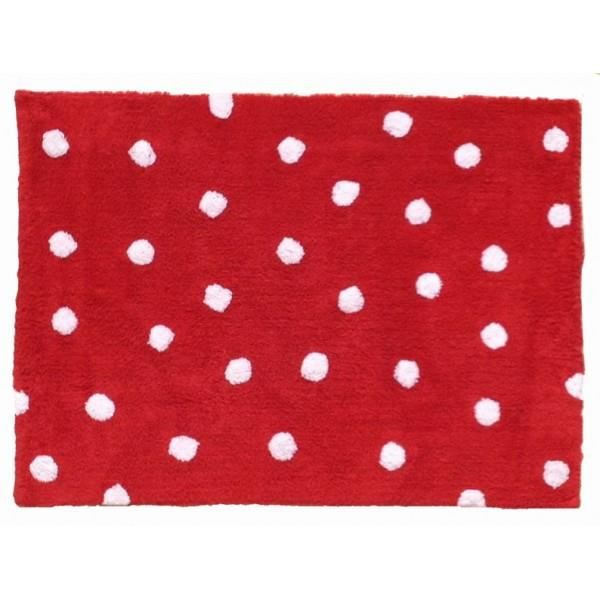 tapis de sol enfant 120x160 cm rouge pois blanc achat vente tapis cdiscount. Black Bedroom Furniture Sets. Home Design Ideas