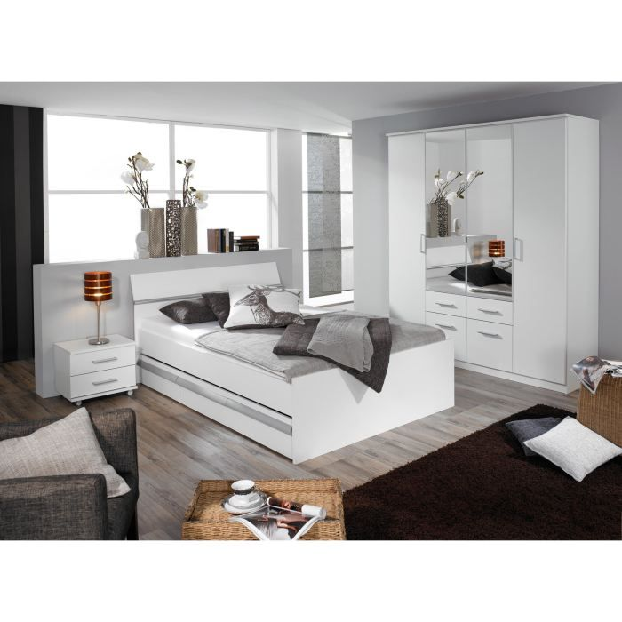 Chambre adulte design apollina ii 90 x 200 cm achat for Chambre complete design