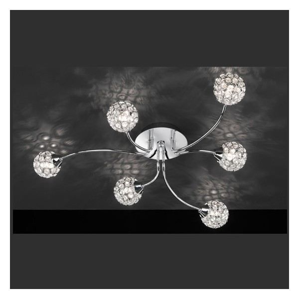 plafonnier design hortensia 6 lampes achat vente lustre et suspension plafonnier design. Black Bedroom Furniture Sets. Home Design Ideas