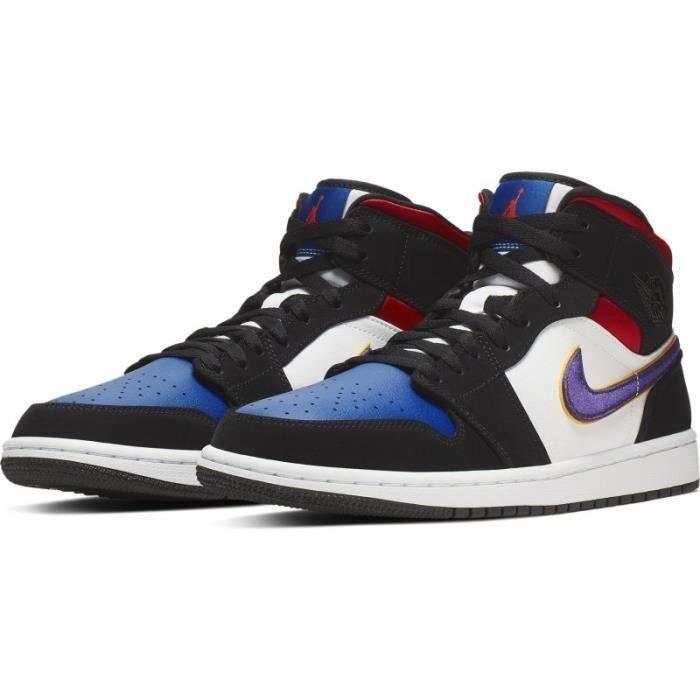 Nike Air Jordan 1 Mid SE Lakers Chaussures de Basket Air ...