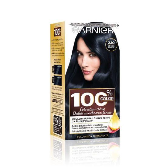 100 Ultra Brun 2 10 Coloration Cheveux Noir Bleute Achat