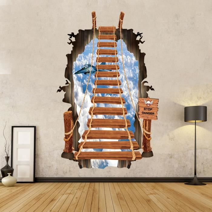 de Decor Mural Ladder Salle Autocollant Vinyle Amovible Escaliers bain Quotes Stickers DIY qxZ1YHwAH