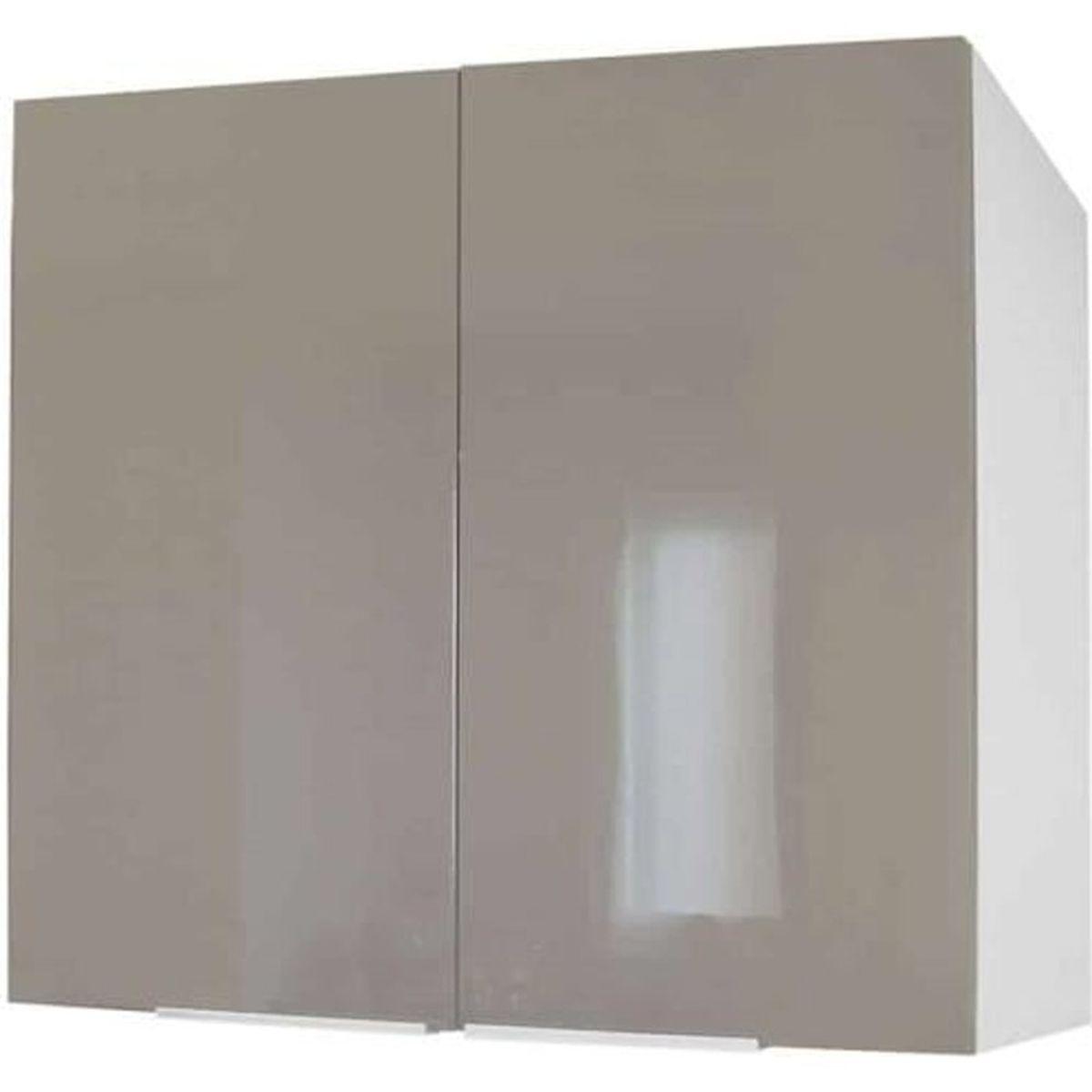 Meuble de cuisine haut 12 portes - 12cm - Taupe - Élément séparé