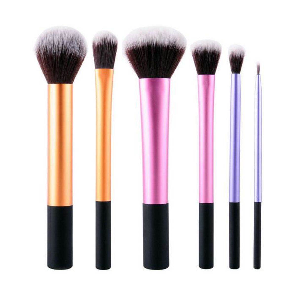 lot de 6pcs pinceau de maquillage brosse cosm tique trousse maquillage achat vente petits. Black Bedroom Furniture Sets. Home Design Ideas