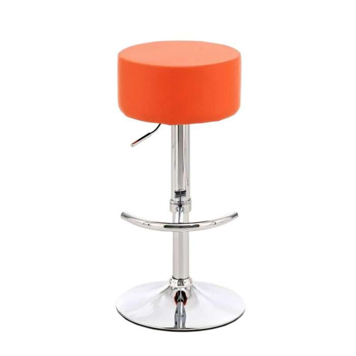 tabouret de bar avec si ge en similicuir coloris orange. Black Bedroom Furniture Sets. Home Design Ideas