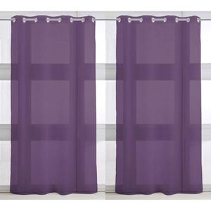Paire de Voilages 135x240cm DEEP PURPLE
