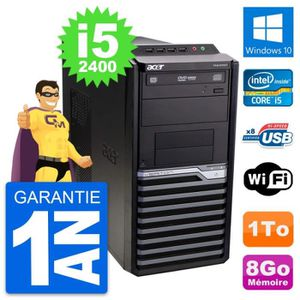 ORDI BUREAU RECONDITIONNÉ PC Tour Acer Veriton M2610G Intel i5-2400 RAM 8Go