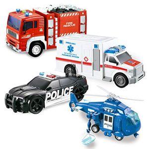 TEAMSTERZ City Emergency Response hélicoptère avec intervention d/'urgence voiture jouet