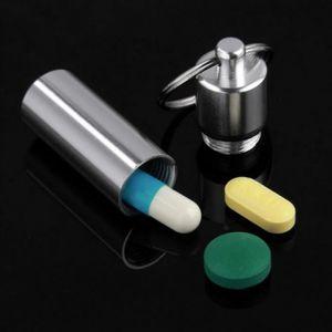 WINOMO 6pcs pilule /étanche titulaire bo/îte bouteille affaire trousseau conteneur en aluminium