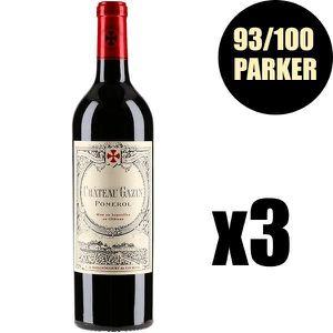 VIN ROUGE X3 Château Gazin 2015 75 cl AOC Pomerol Vin Rouge