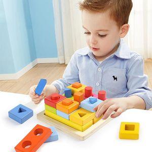 PUZZLE   Cube De Tri De Formes,Boite a Forme Bois Avec  f