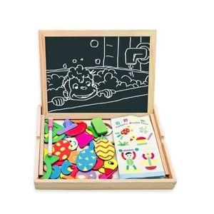 PUZZLE jouet Puzzle Catoon en bois Easel Magnetic Peintur