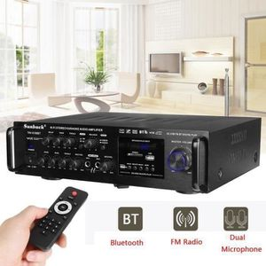 AMPLIFICATEUR HIFI 2000W 4ohm Bluetooth Amplificateur Stéréo karaoké